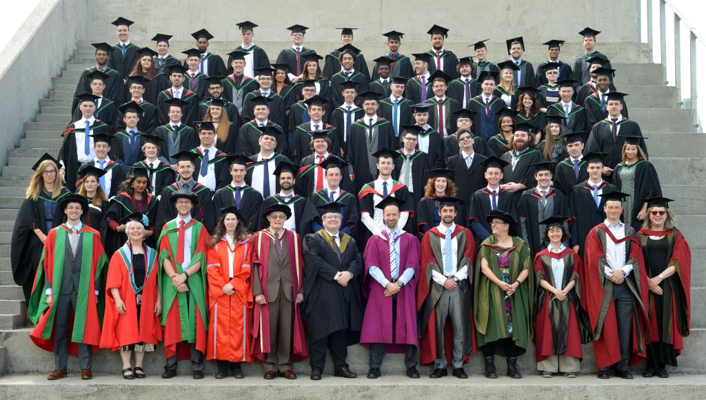 Photo of all the graduates of the Aberystwyth University Computer Science Department, class of 2016.